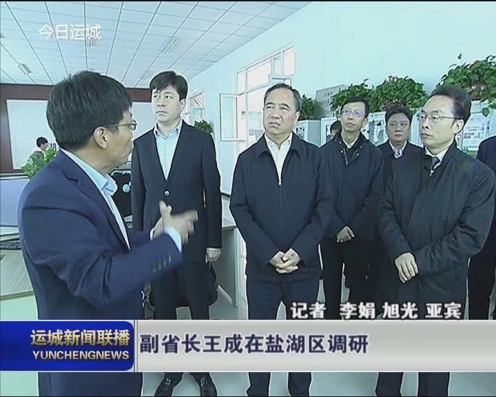 副省长王成在盐湖区调研