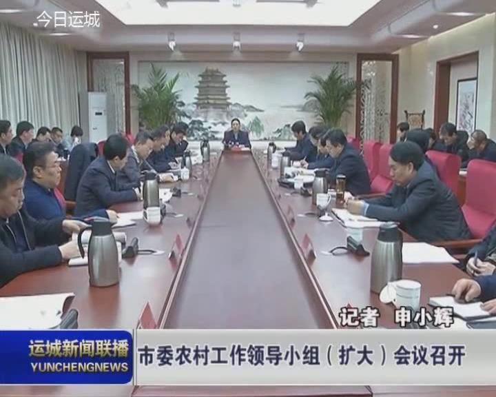 市委農村工作領導小組(擴大)會議召開