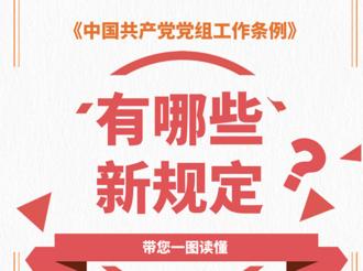 一图读懂《中国共产党党组工作条例》有哪些新规定