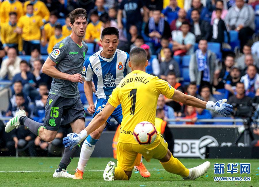 恭喜!武磊进球助西班牙人2:0挺进欧战赛场