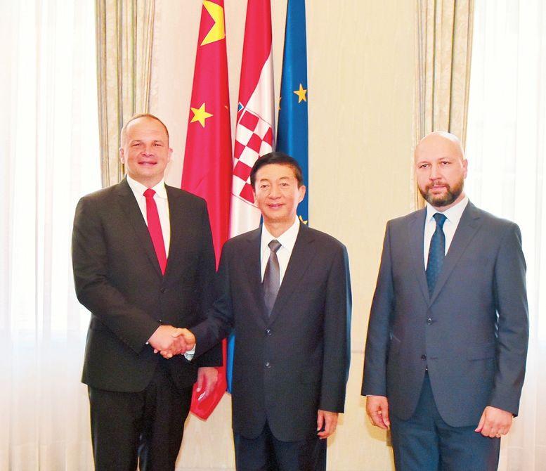 骆惠宁率山西代表团对克罗地亚进行友好访问