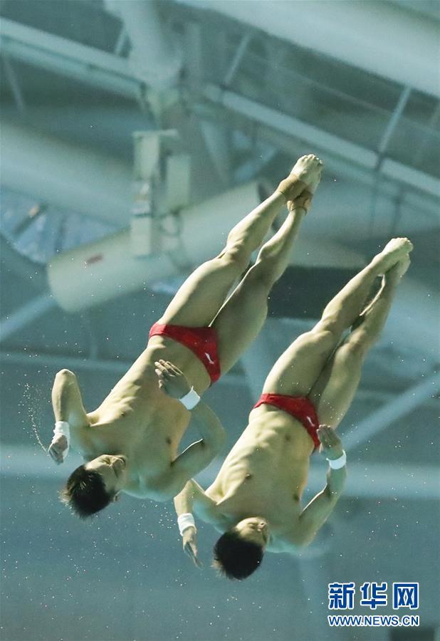 (游泳世锦赛)(3)跳水——曹缘/陈艾森夺得男子双人10米跳台金牌