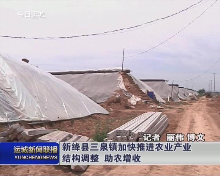 新绛县三泉镇加快推进农业产业结构调整  助农增收