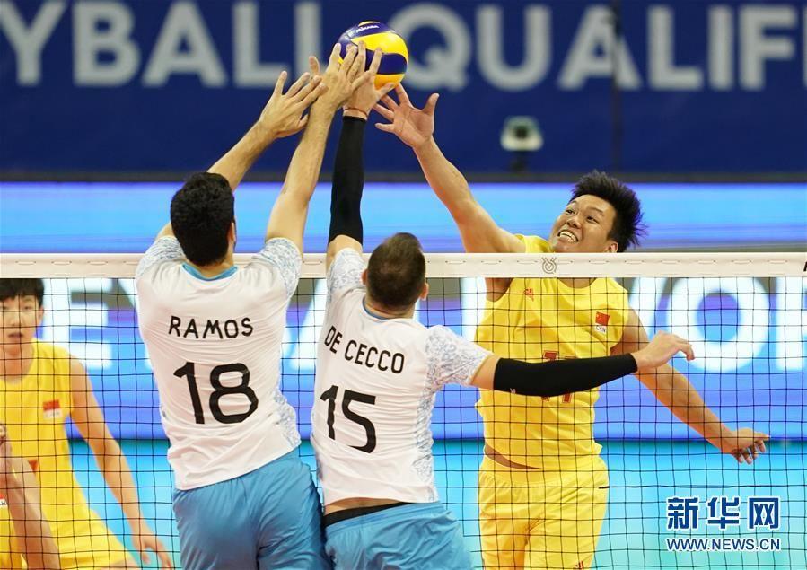 東京奧運會男排資格賽:中國隊不敵阿根廷隊