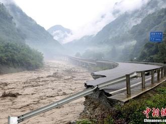 四川雅安暴雨逾13万人受灾
