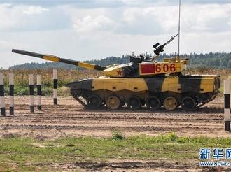 """中国""""坦克两项""""参赛队在""""国际军事比赛-2019""""中首赛告捷"""