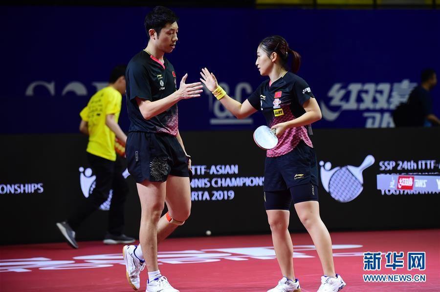 乒乓球亚锦赛:许昕/刘诗雯晋级混双决赛