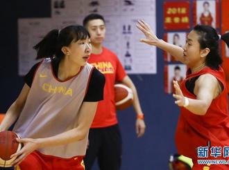 中国女篮新春媒体公开训练在京举行