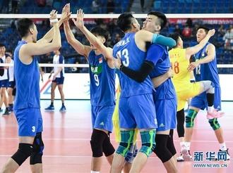 亚排联男排奥运资格赛:中国胜中国台北