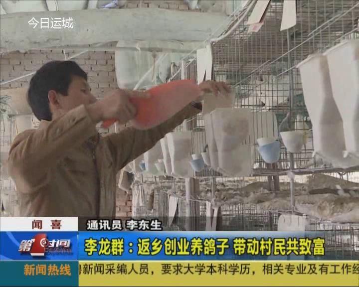 李龙群:返乡创业养鸽子 带动村民共致富