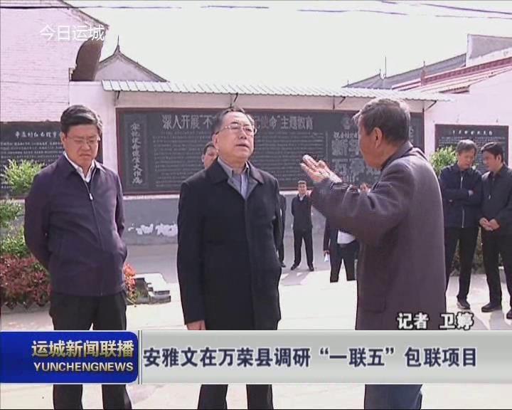 """安雅文在万荣县调研""""一联五""""包联项目"""