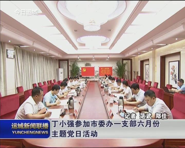 丁小强参加市委办一支部六月份主题党日活动