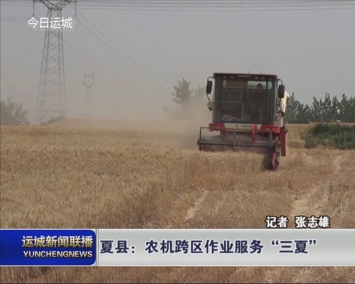 """夏縣:農機跨區作業服務""""三夏"""""""