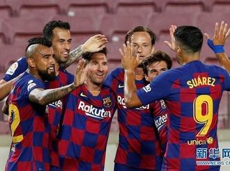西甲:巴塞罗那平马德里竞技