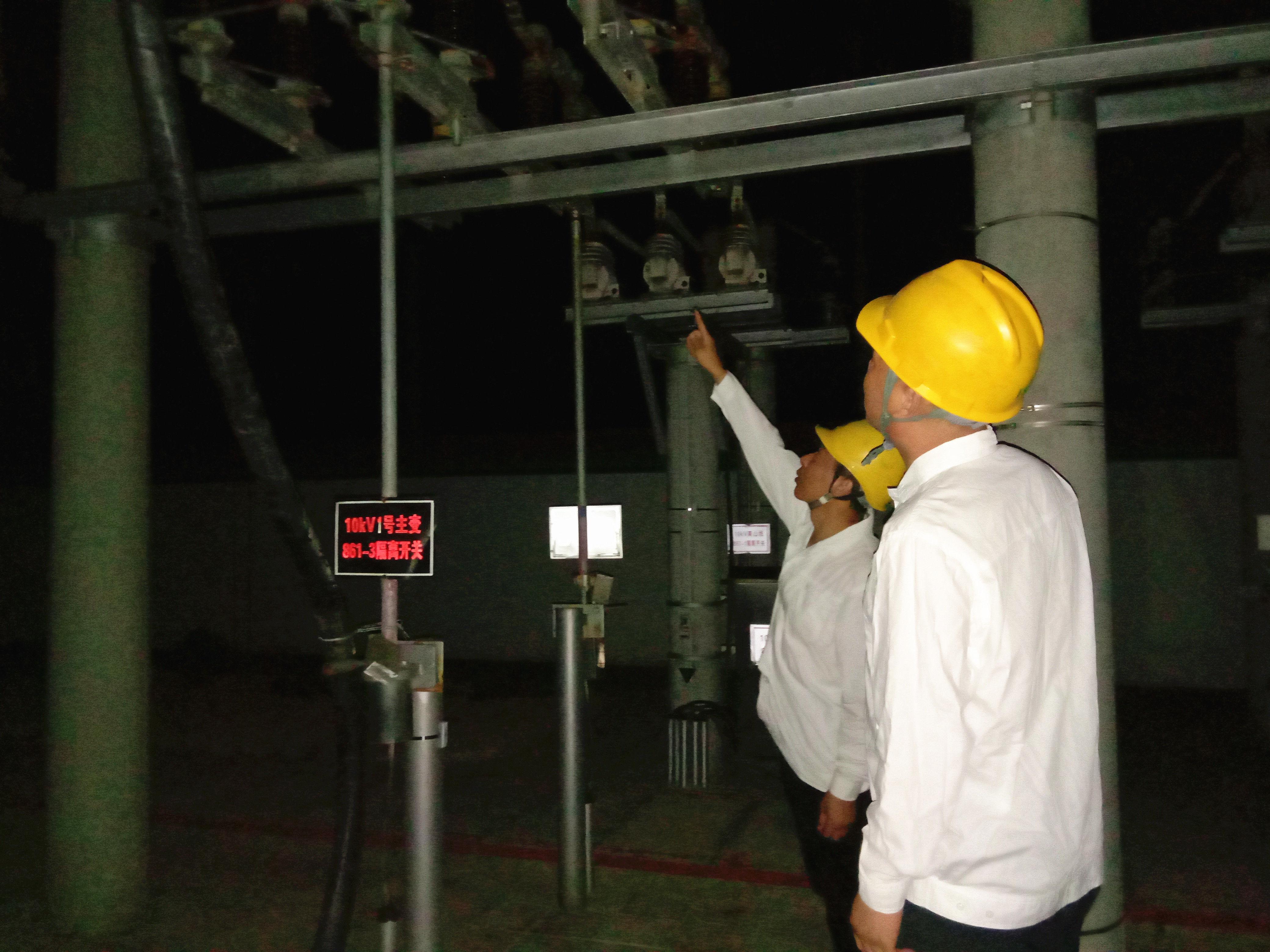 盐湖供电公司组织人员对辖区变电站进行专项特巡 及时消除隐患 确保电力安全有序供应