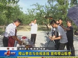 稷山枣农与央视连线 宣传稷山板枣