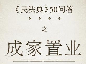 【普法課堂】民法典50問③ | 成家置業