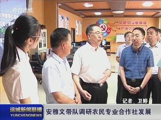 安雅文带队调研农民专业合作社发展