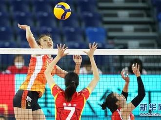 全国女排锦标赛:上海胜天津