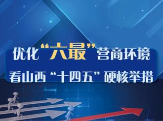 """圖解丨優化""""六最""""營商環境 看山西""""十四五""""硬核舉措"""