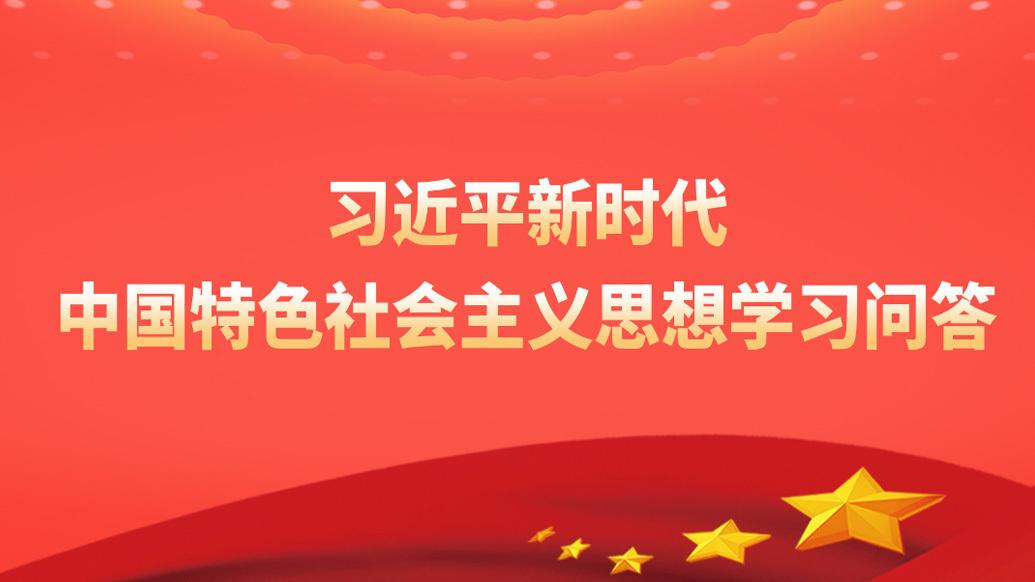 《習近平新時代中國特色社會主義思想學習問答》(100)