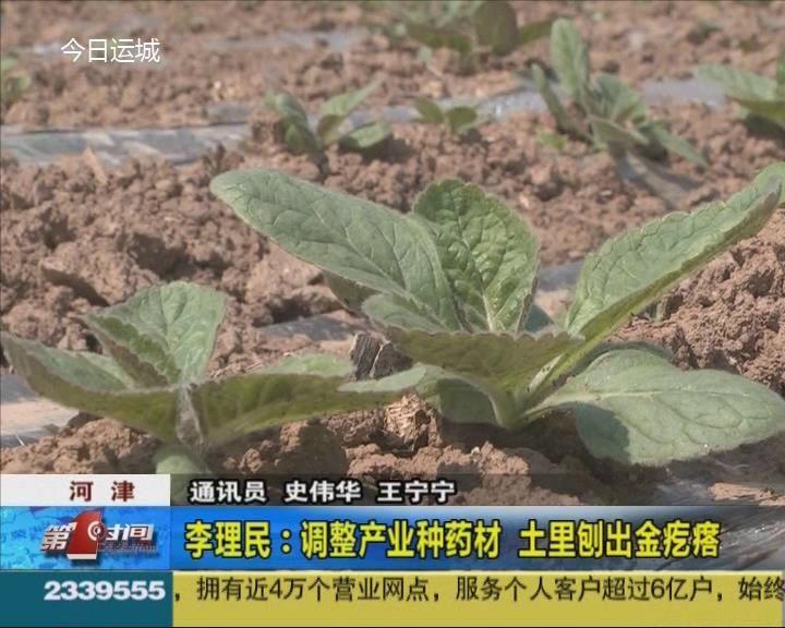 李理民:調整產業種藥材 土里刨出金疙瘩
